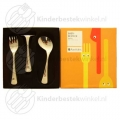 Neutral baby cutlery polished 3-pieces