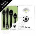 FC Junior kinderbestek rvs 4-delig (voetbal)