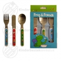 Frog and Friends toddler cutlery 3-pieces