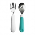 Toddler cutlery aqua 2-pieces