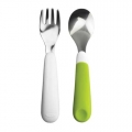 Toddler cutlery green 2-pieces