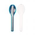 Ellipse cutlery aqua 3-pieces (To Go)