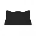 Kat kinderplacemat zwart