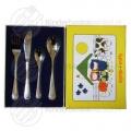 Farm animals children's cutlery stainless steel 4-pieces