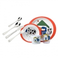 Farm Orange children's cutlery tableware set 8-pieces