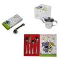 Woezel & Pip side spoon, children's cup and cutlery set 6-pieces