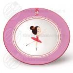 Ballerina kinderset porselein rvs 7-delig