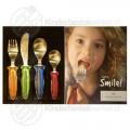 Smile kinderbestek kleur 4-delig