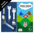 Animal Friends kinderbestek mat 4-delig