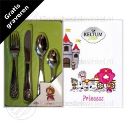 Princess kinderbestek rvs 4-delig