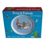 Kikker en vriendjes kinderservies melamine 4-delig