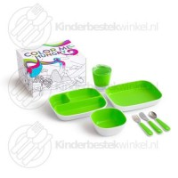 Color me hungry splash kinderset groen 7-delig