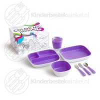 Color me hungry splash kinderset paars 7-delig