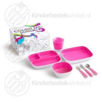 Color me hungry splash kinderset roze 7-delig