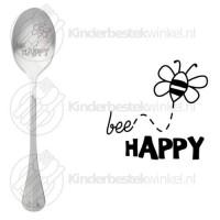 Bee happy tekstlepel