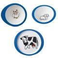 Boerderij dieren kinderservies melamine 3-delig