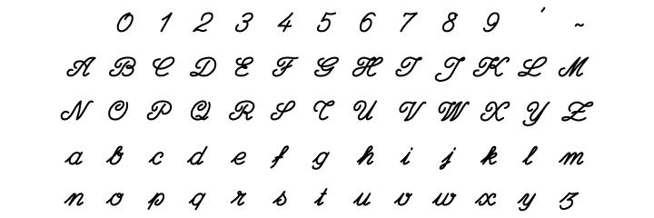 Kinderbestekwinkel lettertype schrijfletters